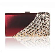 baratos Clutches & Bolsas de Noite-Mulheres Bolsas PVC Bolsa de Festa Cristal / Strass Sólido Vermelho Rosa / Vinho / Ametista