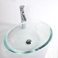 Nykyaikainen Suorakulma Sink Material on Karkaistu lasi Kylpyhuoneen allas