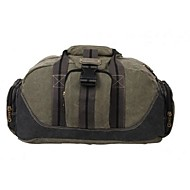 Unisex Bags Canvas Travel Bag for Sports Outdoor All Seasons Black khaki Army Green
