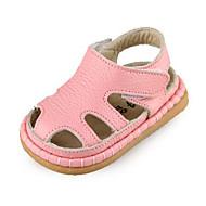 Genç Kız Ayakkabı Deri Bahar Sonbahar İlk Adım Atletik Ayakkabılar Yürüyüş Alçak Topuk Yuvarlak Uçlu Sihirli Bant Uyumluluk Günlük Beyaz