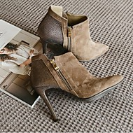 Naiset Bootsit Comfort PU Kevät Rento Khaki 2-2,75in