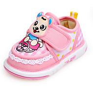 Bebek Düz Ayakkabılar İlk Adım Bahar Sonbahar Kumaş Yürüyüş Günlük Sihirli Bant Alçak Topuk Fuşya Pembe Açık Mavi Düz