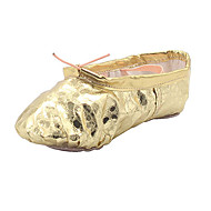 No Kids' Ballet Faux Leather Flats Indoor Leopard Flat Heel Sliver Gold