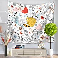 preiswerte -Wand-Dekor 100% Polyester Einfach Aktiv Zeichentrick Wandkunst,Wandteppiche von 1