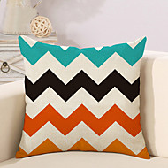 1 Pcs Colorful Wave Stripe Printing Pillow Cover Creative Square Pillow Case Cotton/Linen Cushion Cover