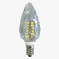 billige Stearinlyslamper med LED-4W 450-500 lm E14 LED-lysestakepærer C35 40 leds SMD 2835 Varm hvit Hvit AC 220V