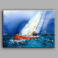 Modern Hand-Painted Landscape Sailing One Panel Canvas Oil Painting For Home Decoration