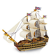 cheap -3D Puzzles Metal Puzzles Wood Model Model Building Kits Warship DIY Natural Wood Classic 6 Years Old and Above