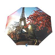 eiffelturm muster schwarz gel sonnenschutz sonnenschirm kreative uv schutz regenschirm