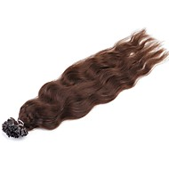 Neitsi 20'' 50g/lot 1g/s Natural Wave Keratin Fusion U Tip Human Hair Extensions Curly Pre bonded Hair 4#