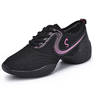 Women's Athletic Shoes Comfort Spring Fall PU Outdoor Flat Heel Gold Fuchsia Black/Red Flat
