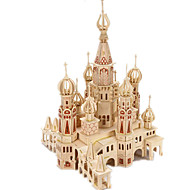 hesapli Modeller ve Model Kitleri-3D Yapbozlar Yapboz Ahşap Modeller Modely Kale Ünlü Binası Ev Kendin-Yap Tahta Klasik Unisex Hediye