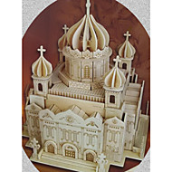 cheap -3D Puzzles Jigsaw Puzzle Wood Model Model Building Kits Church Architecture 3D Cathedral of Christ the Saviour DIY Simulation Wooden Wood