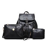 Damen Taschen PU Bag Set Reißverschluss für Normal Ganzjährig Blau Weiß Schwarz Rote