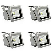 tanie Naświetlacze-4szt 10w reflektor na trawnik światła wodoodporne dekoracyjne oświetlenie zewnętrzne ciepły biały zimny biały 85-265v