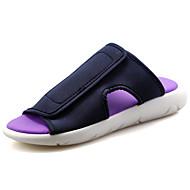 tanie Obuwie męskie-Męskie Komfortowe buty PU Wiosna / Lato Klapki i japonki Biały / Czarny / Fioletowy