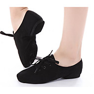 Dames Jazz Canvas Platte schoenen Hakken Oefenen Zwart
