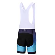 Miloto Muškarci Biciklističke kratke tregerice Bicikl Bib Shorts / Podstavljene kratke hlače / Donji Poliester, Spandex Obala / Crn