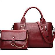 Žene Torbe PU Bag Setovi Patent-zatvarač za Kauzalni Ured i karijera Sva doba Plava Obala Crn Red Sive boje