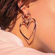 Mulheres Brincos Compridos Moda Euramerican bijuterias Liga Formato de Coração Jóias Para Diário Casual