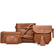 cheap Bag Sets-Women's Bags PU(Polyurethane) Bag Set 4 Pieces Purse Set Blushing Pink / Gray / Brown / Bag Sets