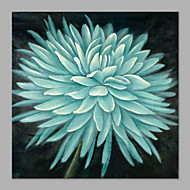 IARTS® Hand Painted Modern Abstract Duck Egg Blue Chrysanthemum Flower on Canvas with Stretched Frame Handmade Oil Painting For Home Decoration