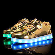 cheap Girls' Shoes-Girls' Shoes PU Spring Fall Comfort Light Up Shoes Sneakers Walking Shoes Magic Tape LED for Casual Outdoor Gold Silver Pink
