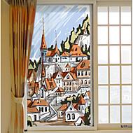 tanie -Art Deco Naklejka okienna,PVC/Vinyl Materiał Dekoracja okna