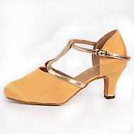 Dame Moderne Silke Høye hæler Innendørs Spenne Gul 6 cm 7,5 cm 8 cm Kan spesialtilpasses