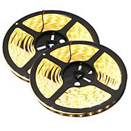 80 W Ohebné LED pásky 7650-7750 lm DC12 V 10 m 300 lED diody teplá bílá Bílá