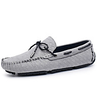 cheap Women's Boat Shoes-Unisex Suede Summer / Fall Moccasin Boat Shoes Flat Heel Black / Gray / Khaki / Party & Evening