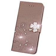 billiga Mobil cases & Skärmskydd-fodral Till LG G3 / LG L70 / LG Plånbok / Korthållare / Strass Fodral Enfärgad Hårt PU läder för LG X Power / LG V20 / LG Spirit / LG C70 H422 / LG G4 / LG K10