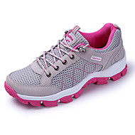 Per donna Scarpe PU (Poliuretano) Primavera / Autunno Comoda / Suole leggere scarpe da ginnastica Corsa Piatto Punta tonda Lacci Grigio /