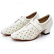 """billige Moderne sko-Dame Latin Syntetisk Mikrofiber PU Høye hæler Profesjonell Hvit Svart 1 """"- 1 3/4"""" Kan spesialtilpasses"""