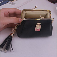 Women Bags All Seasons PU Money Clip for Casual Black Red Green