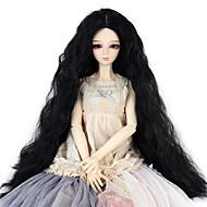 Naisten Synteettiset peruukit perverssi Jet Black Doll Wig puku Peruukit