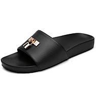 Herren Schuhe PU Sommer Komfort Sandalen Für Weiß Schwarz Orange