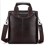 Men Bags Cowhide Briefcase for Casual Outdoor All Seasons Black Dark Brown