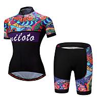 Miloto 女性用 半袖 ショーツ付きサイクリングジャージー バイク 洋服セット