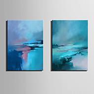 billiga Oljemålningar-Hang målad oljemålning HANDMÅLAD - Abstrakt Nutida Moderna Duk