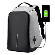 Men Bags All Seasons External USB Charging Oxford Cloth Backpack for Casual Outdoor Traveling Black Gray Amethyst
