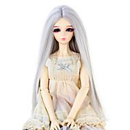 Naisten Synteettiset peruukit Suora Hopea Doll Wig puku Peruukit