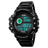 billige Militærur-SKMEI Herre Digital Digital Watch Armbåndsur Militærur Sportsur Japansk Alarm Kalender Kronograf Vandafvisende LED Selvlysende i mørke