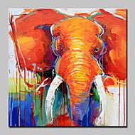 Håndmalte Dyr Abstrakt Tegneserie Moderne / Nutidig Et Panel Lerret Hang malte oljemaleri For Hjem Dekor