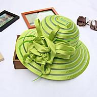ieftine -Damă Cu Dungi Primăvara/toamnă Vară Pălărie Floare Plasă,Clop Palarie de soare Dungi