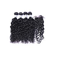 Tissages de cheveux humains Cheveux Brésiliens Ondulation Naturelle Plus d'Un An 5 tissages de cheveux