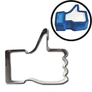 billige Bakeredskap-tommelen opp kaker kutter facebook gi en lignende emoji rustfritt stål mold kjeks egg steke mold omelett