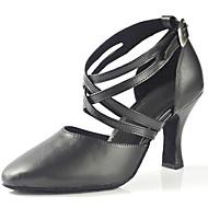 Naiset Latinalainen Tekonahka Sandaalit Suoritus Ristikko Stilettikorko Musta 7,5 cm Mahdollisuus räätälöidä