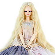 Naisten Synteettiset peruukit perverssi Bleach Blonde Doll Wig puku Peruukit