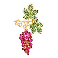 hesapli -Kadın's Genç Kız Broşlar Moda Euramerican Elyapımı alaşım Leaf Shape Mücevher Uyumluluk Özel Anlar Davet/Parti Günlük Seramoni